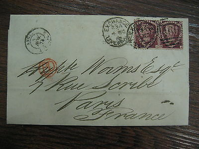 Letter Liverpool Postmark With 1873  Pair Stamp Cat Cover £275