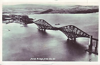 Forth Railway Bridge. From the Air. 1959 GC