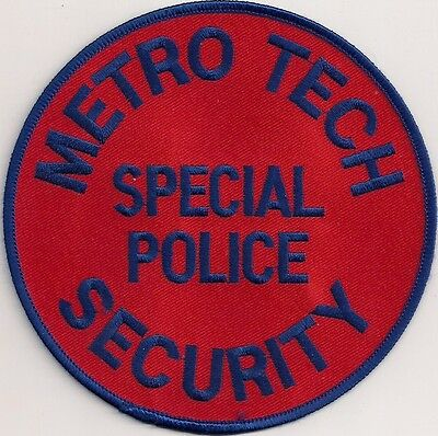 Patch Abzeichen Metro Tech Special Police Security USA