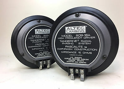 NOS Vintage Altec Lansing 909-16A HF 16 ohm Driver Pair in Original Box - Tested