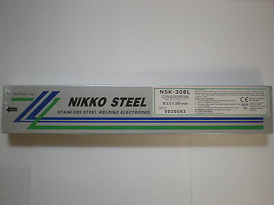 308L Stainless Steel 2.0mm x 300mm x 1kilo Arc Welding Electrodes / Rods / Stick
