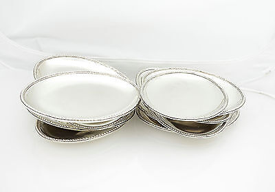 Set Of 12 Silver Dishes Or Trays Georgian Stile C.1770