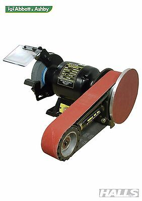 Abbott & Ashby Industrial Bench Grinder 150mm With Multitool Linisher - 506902