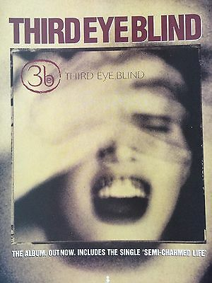 "THIRD EYE BLIND # 1997 ORIGINAL ALBUM RELEASE ADVERT # 12"" x 9"""