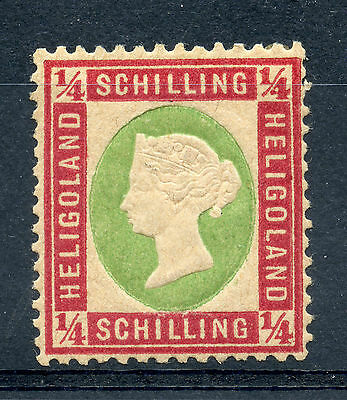 Weeda Helgoland Superb MH Michel #8a, Scott #7, SG #10, Guarantee marks CV €350+