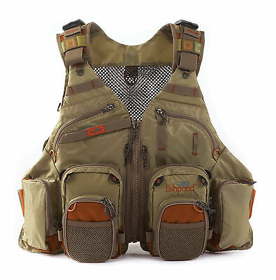 Fishpond Gore Range Tech Pack Fly Fishing Vest w/ 2 Fly Benches - Driftwood