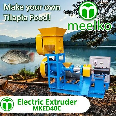 Extruder To Make Your Own Tilapia Fish Food, Usa Warehouse Stock. Food Machine