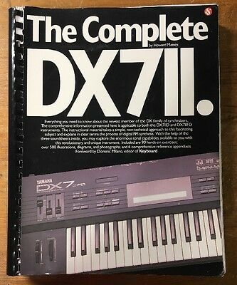 The Complete DX7II by Howard Massey. Book with sound sheets. Yamaha DX-7