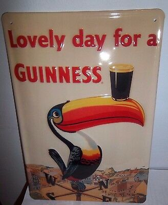 GUINNESS/ LOVELY DAY/ TOUCAN/  METAL  3D ADVERTISING SIGN 30X20cm PUB/BAR/CAFE