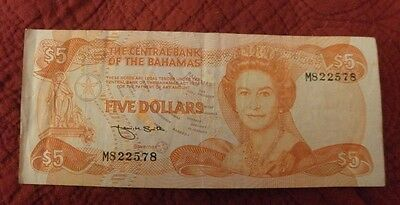 bahamas currency Five Dollar Note