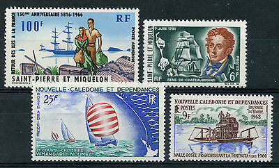 Weeda New Caledonia 368, C50, St. Pierre & Miquelon 379, C30 VF NH issues. CV$32