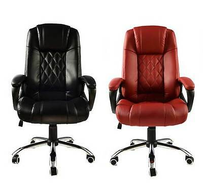 PU Leather Executive Home Office Business Computer High Back Chair Black Red