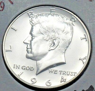 1964P Kennedy Half Dollar Proof  - 90% Silver US coin
