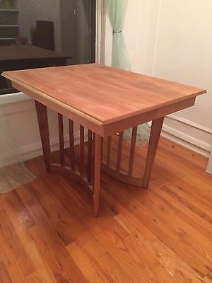 LOCAL PICKUP Mid Century Retro Drop Leaf Dining Table Unique Base