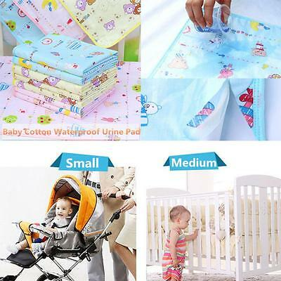 Newborn Cotton Bedding Nappy Urine Mat Baby Diaper Infant Burp Waterproof