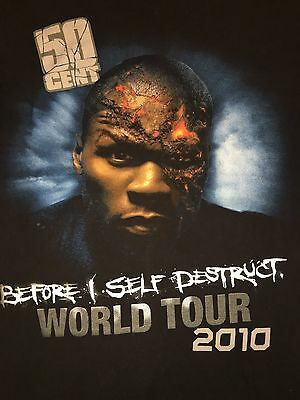 50 CENT Before I Self Destruct 2010 World Tour T-Shirt Adult Large