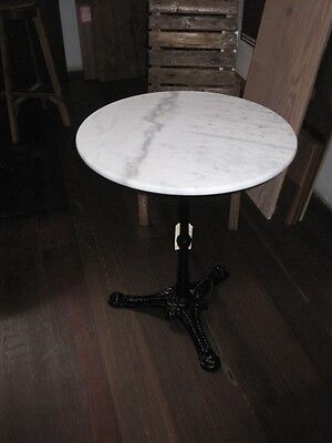 Round White Marble Top Table 60cm wide for BALCONY, Garden DELIVERED EAST COAST*