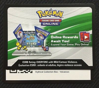 Pokemon Mythical Collection Volcanion Box TCGO Online Code - Fast!