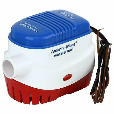 12v 1100gph Automatic Submersible Boat Bilge Water Pump Built-in Float Switch GW