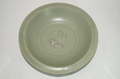 Rare southern Song dynasty longquan blue green celadon twin fish dish