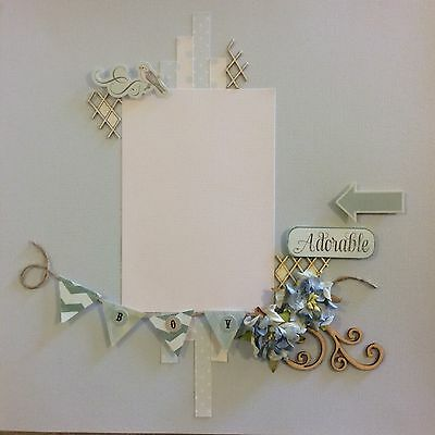 handmade scrapbook page 12 X 12 Adorable Boy Themed Layout