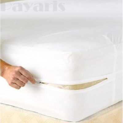 Non Allergenic Zippered Mattress Protector Waterproof Vinyl Bed Bug Cover