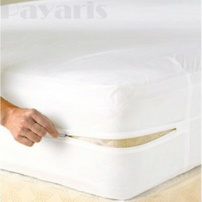 Waterproof Zippered Vinyl Mattress Cover None Allergenic Bed Bug Protector
