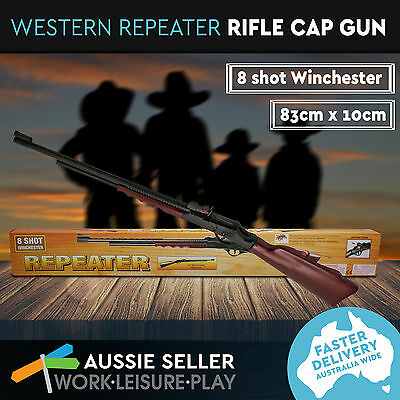 Brand New 1x Western Repeater Rifle Cap Gun Cowboy Toy Gun 83cm Long x 10cm Tall