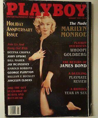 Vintage Playboy magazine January 1997 Marilyn Monroe, Whoopi Goldberg, James Bon