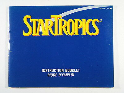 ¤ Star Tropics ¤ (MANUAL ONLY) Good! Nintendo NES