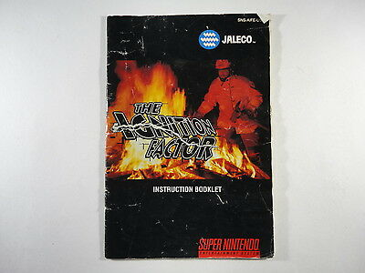 ¤ The Ignition Factor ¤ (MANUAL ONLY) Okay Super Nintendo SNES