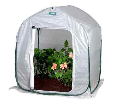 New FlowerHouse 4 ft x 4 ft Pop-Up Portable Mini Outdoor Garden Plant Greenhouse