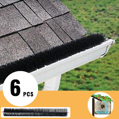 100mm X 6m Hedgehog Gutter Guard Brush Leaf Twigs