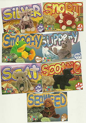 TY Beanie Babies - Artist's proof cards 2nd edition Series 3 - lot of 7 - *NM*