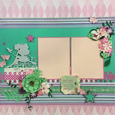 handmade scrapbook page 12 X 12 Beautiful Magical Themed Layout