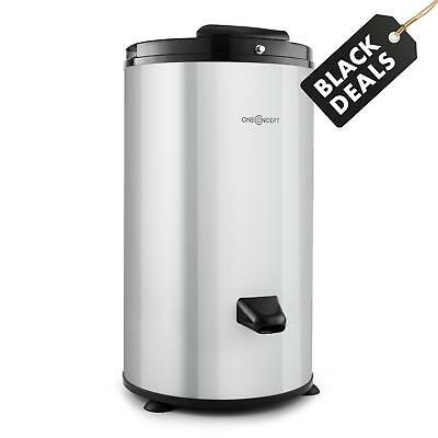 New Energy Efficient Space Saving Spin Dryer Stainless Steel 6Kg Load - Silver
