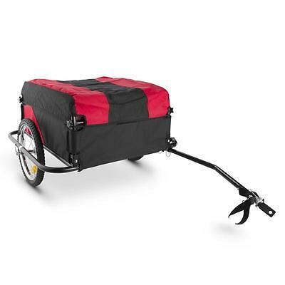 Bike Trailer Stainless Steel 130L 60Kg Capacity Foldable Camping Transport
