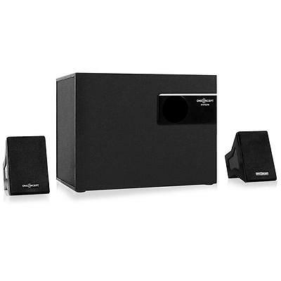Active 2.1 Speaker System Desktop Pc Computer Bookshelf Stereo Audio Combo
