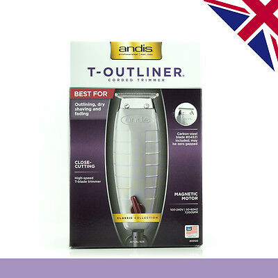 Andis T-Outliner Trimmer | Professional Outliner | T-Blade and Corded