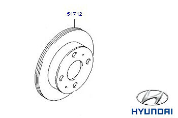 Genuine Hyundai Amica Front Brake Discs PAIR x2  - 5171202551
