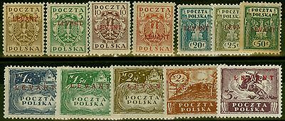 Polish Levant 1919 set of 12 SG1-12 Fine Lightly Mtd Mint