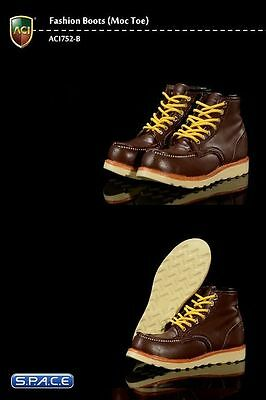 1/6 Scale Moc Toes Brown Boots Schuhe Stiefel Kitbashing ACI Toys