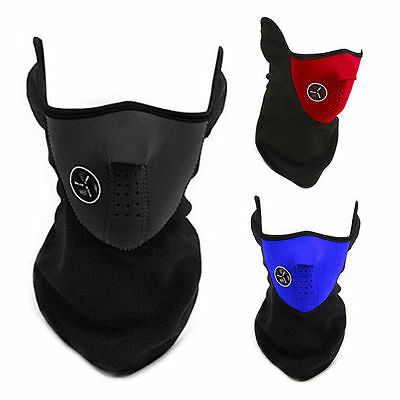 Neoprene Motor Cycle Bike Bicycle Ski Snowboard Fishing Neck Warm Half Face Mask