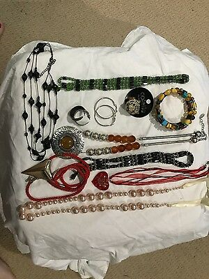 Costume Jewellery bulk lot necklaces ring earrings