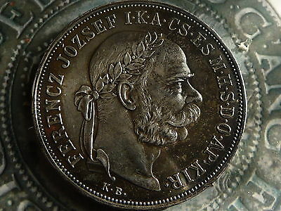 hungary 1900 proof 5 korona .900 silver crown coin 24g 36mm