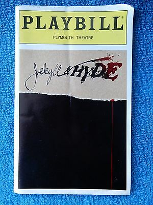 Jekyll & Hyde - Plymouth Theatre Playbill - Opening Night - April 28th, 1997