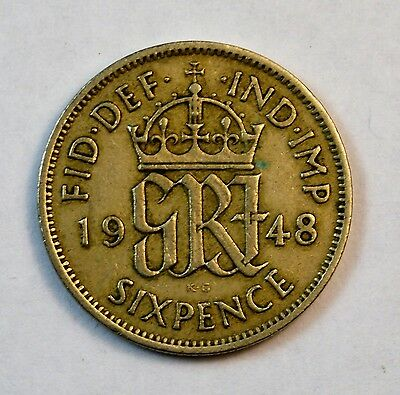 Great Britain (UK) 1948 Sixpence Foreign Coin.............................G11166