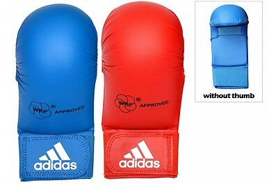 Adidas WKF Approved Karate Mitts without Thumb Thumbless