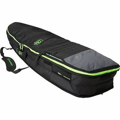 Creatures of Leisure Retro Fish Double Surfboard Bag Charcoal/Lime 7ft 1in