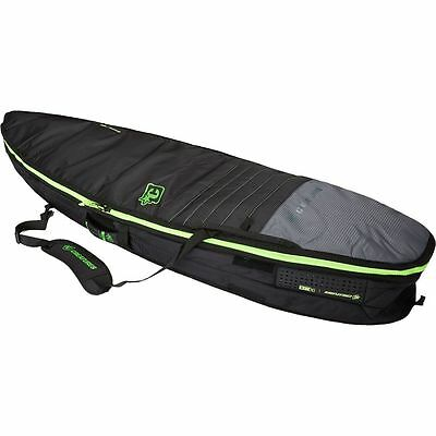 Creatures of Leisure Universal Double Surfboard Bag Charcoal/Lime 6ft 3in